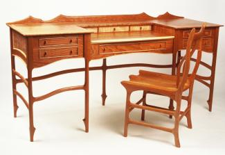 John Wesley Williams Furniture Curly Cherry Desk