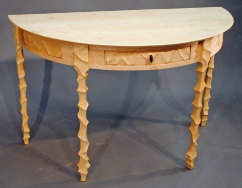 John Wesley Williams Furniture Caviness Demi Lune Table