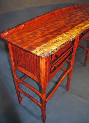 John Wesley Williams Furniture Carved Bubinga Sideboard