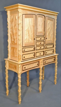John Wesley Williams Furniture Spanish Carved Case