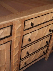 Birdseye Maple Sideboard Detail