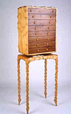 John Wesley Williams Furniture Walnut Carved Case